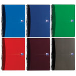 Oxford Office Wirebound Notebooks Metallic Poly cover A4