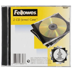 Fellowes 2 Capacity CD Jewel Case
