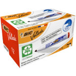 Bic Velleda 1701 Whiteboard Marker Bullet Point Red Pack of 12