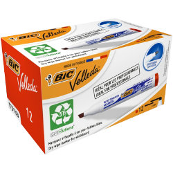 Bic Velleda 1751 Whiteboard Marker Chisel Point Red Pack of 12