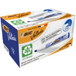 Bic Velleda 1751 Whiteboard Marker Chisel Point Blue Pack of 12