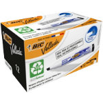 Bic Velleda 1751 Whiteboard Marker Chisel Point Black Pack of 12