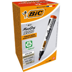 Bic Marking 2000 Permanent Marker Bullet Point Red Pack of 12