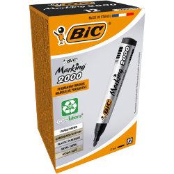 Bic Marking 2000 Permanent Markers Bullet Tip Black Pack of 12