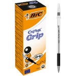 Bic Cristal Grip Ballpoint Pen Black Pack of 20