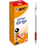Bic Cristal Grip Ballpoint Pen Red Pack of 20