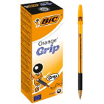 Bic Cristal Grip Fine Tip Ballpoint Pen Black Pack of 20