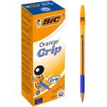 Bic Cristal Grip Fine Tip Ballpoint Pen Blue Pack of 20