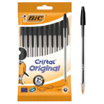 Bic Cristal Medium 10mm Ballpoint Pen Black Pack of 10