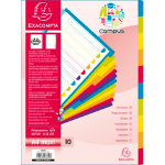 Exacompta Campus Dividers 3810E A4 Assorted 10 tabs Polypropylene