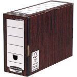 Bankers Box R Kive Premium Transfer Files Wood Grain Pack of 10