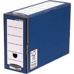 Bankers Box R Kive Premium Transfer Files Blue White Pack of 10