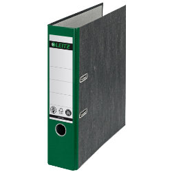 Leitz 180 Degree Green Paper On Board Lever Arch File