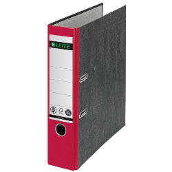 Leitz 180 Degree Red Paper On Board Lever Arch File
