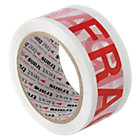 Printed Packaging Tape Fragile 50mm x 66m 6pk