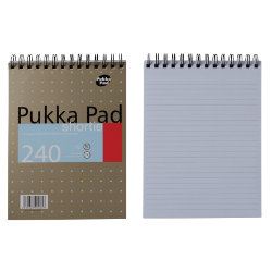Pukka Pad Shortie Pad No Margin 235 x 178mm 3pk