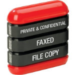 Dormy 3 in 1 Stamp File Copy Faxed Private Confidential Each