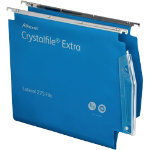 Rexel Crystalfile Extra Lateral 275mm Files Standard Capacity Blue Box 25