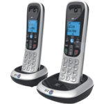 BT Dect Phone BT2200 Twin Silver Black