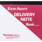 Ease Apart Personalised Delivery Note Book 2 Part 203 x 178 mm 50 Sets Per Book