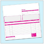 Ease Apart Personalised Invoice Book 3 Part 203 x 178 mm 50 Sets Per Book