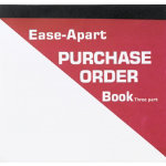 Ease Apart Personalised Purchase Order Book 3 Part 203 x 178 mm 50 Sets Per Book