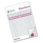 Ease Apart Personalised Invoice Book 2 Part 203 x 178 mm 50 Sets Per Book