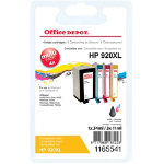 Office Depot Compatible HP 920XL Ink Cartridge c2n92ae Black Cyan Magenta Yellow 4 pieces