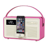 View Quest DAB  Radio with Bluetooth Retro Radio MKII Hot Pink