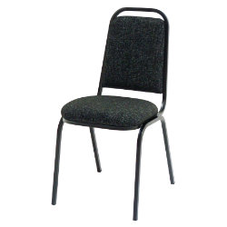 GGI Steel Frame Stacking Banqueting Chair Fabric Charcoal Grey
