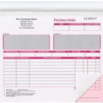Ease Apart Personalised Purchase Order Book 2 Part 203 x 178 mm 50 Sets Per Book