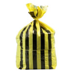 TIGER STRIPE SACKS YELLOW BLACK PRINTED ROLL OF 25