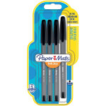 Paper Mate Ballpoint Pen 100 Black Pack 4