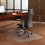 Floortex Ultimat Polycarbonate Chair Mat for hard floors 1200mm x 1340mm rectangular cut