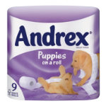 Andrex Toilet Roll White Pack of 9