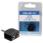 Valueline Audio splitter VLAB22945B Black