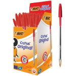 Bic Cristal Medium 10mm Ballpoint Pen Red Pack of 50