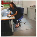 Floortex Ultimat Polycarbonate Chair Mat for hard floors 890mm x 1190mm rectangular cut