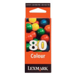 Lexmark 80 Tri Colour Ink Cartridge