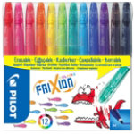 Pilot Felt Tip Pens Frixion 039 mm Assorted Pack 12