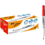 Bic Velleda Whiteboard Marker Red Pack of 12