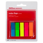 Office Depot Index flags Yellow pink green orange blue Clear No 12 x 45 mm
