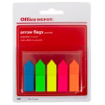 Office Depot Index flags Arrows Yellow pink green orange blue Clear No 12 x 45 mm