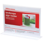 Office Depot A4 Landscape T Sign Holder