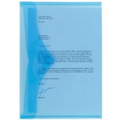 Office Depot A4 Blue Polypropylene Document Wallets Pack of 5