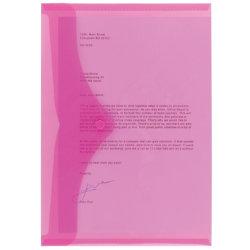 Office Depot A4 Pink Polypropylene Document Wallets Pack of 5