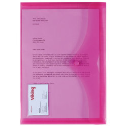 Office Depot Id Document Wallets 335 x 215mm Pink