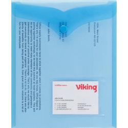 Office Depot Portrait Document Wallets A5 Blue