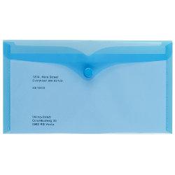 Office Depot Polypropylene DL Document Wallets Blue Pack of 5