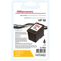 Office Depot Compatible for HP 56 Black Ink Cartridge C6656A